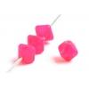 Glass Bead Lanterns 6mm Hot Pink Matt Strung